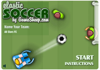 Elastic soccer : foot de table