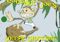 Soccers hout out